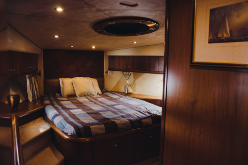 70' Sunseeker Predator Yacht Master Suite