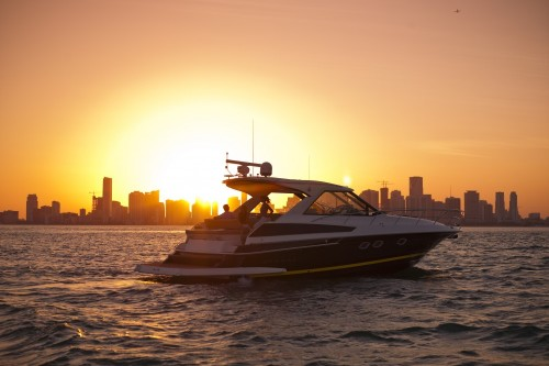 46' Regal Boat at Sunset in Miami