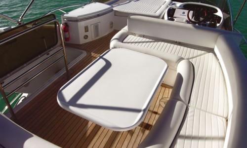 50' Sunseeker Yacht Upper Deck