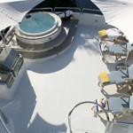 122' Oceanfast Yacht Flybridge Sundeck Area