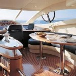 55' Azimut Yacht Breakfast Area