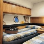 55' Azimut Yacht Guest Room