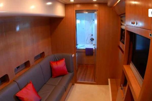 65' Luxury Catamaran Yacht Master Seating Area
