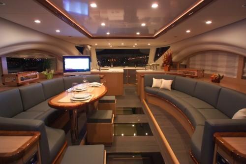 65' Luxury Catamaran Yacht Saloon