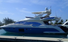 70' Azimut Yacht Port side