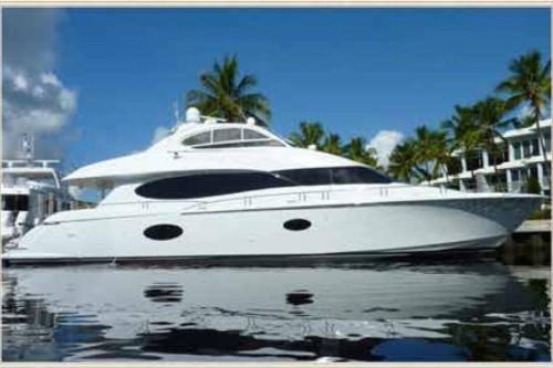 84' Lazzara Yacht Starbord Side