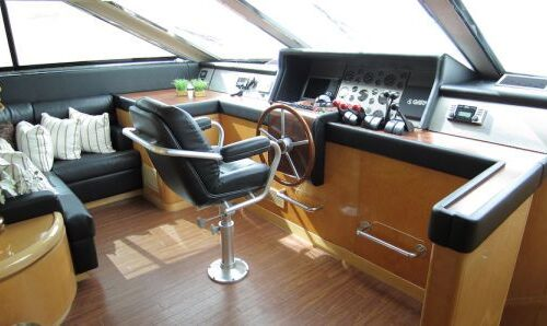 95' Elegance Yacht Helm