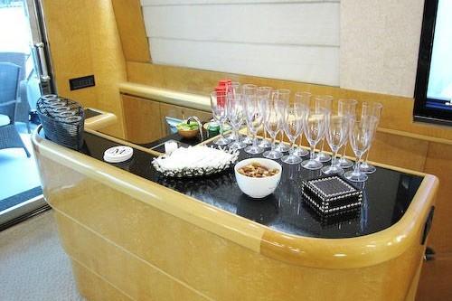 95' Elegance Yacht Interior Bar