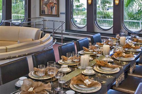 220' Allure Mega Yacht Dining