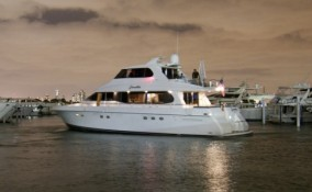 76 Lazzara Yacht Night View
