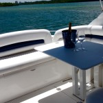 50' Sunseeker Yacht Aft Deck
