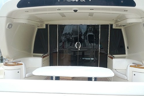 72' Riva Yacht Aft Deck