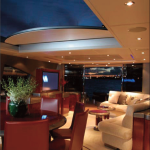 87' Warren Yacht Salon Retractable Roof Open