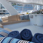 SL Party Boat Flybridge Covered Sitting Area