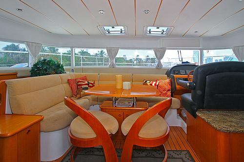 43' Rendevous Catamaran Dining 1