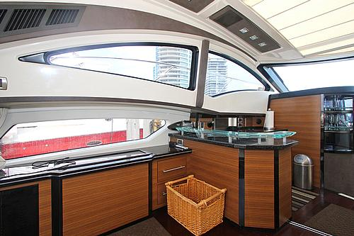 43' Marquis Boat Galley and Bar