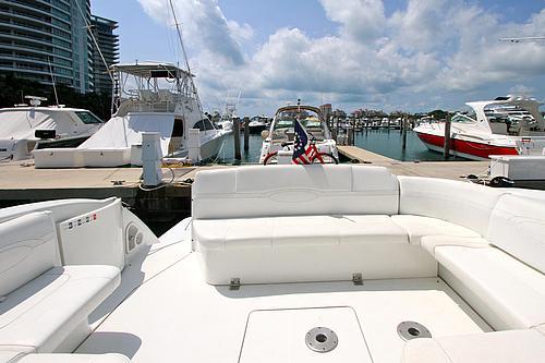 48' Formula Boat Seating Area
