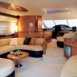 62' Azimut Yacht Saloon Sitting Area