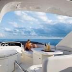 62' Azimut Yacht Flybridge Area