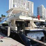 84' Azimut Yacht Stern at Miami Beach Marina