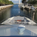 84' Azimut Yacht Bow with Tanning Area