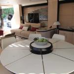 84' Azimut Yacht Dining Area
