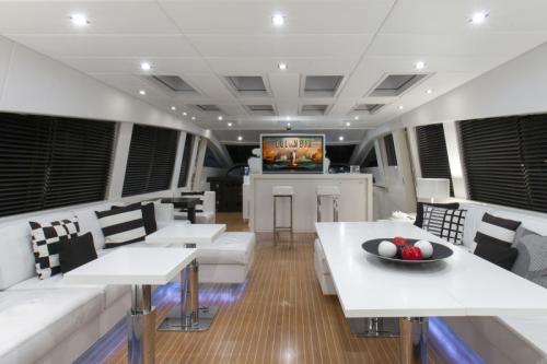 106 Leopard Yacht Charter Dinning Night