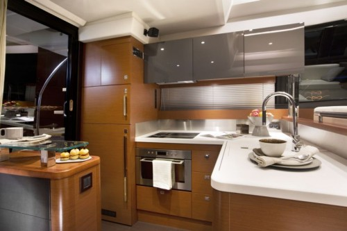 55 Prestige Yacht Rental Galley