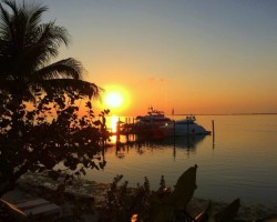 Sunset @ Little Palm Island by Yacht Charter