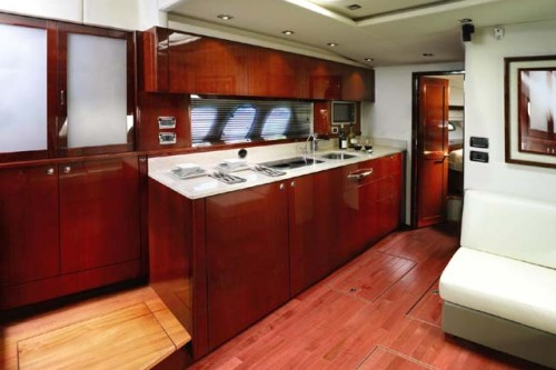 54' Sea Ray Yacht Galley