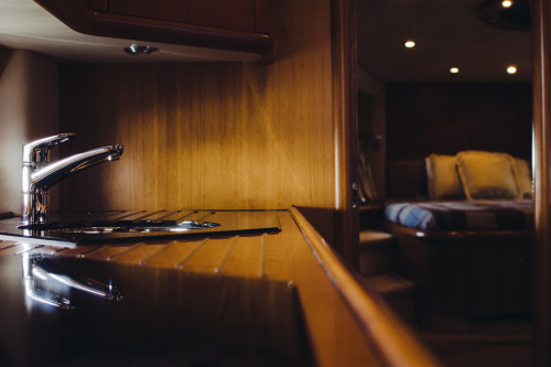 70' Sunseeker Predator Yacht Galley