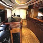 80' Azimut Yacht Galley and Salon