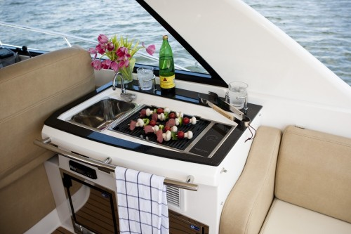 46' Regal Boat Grill Area