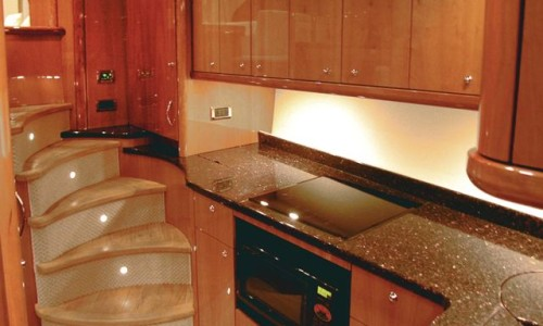 52' Sunseeker Galley