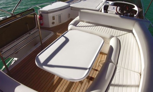 50' Sunseeker Yacht Upper Deck