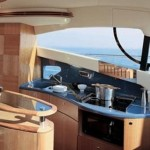 55' Azimut Yacht Galley