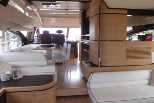 70' Azimut Interior View