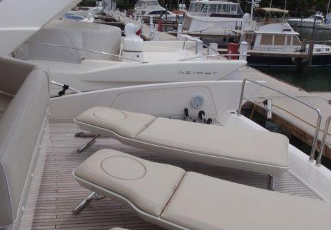 70' Azimut Yacht Sunbeds