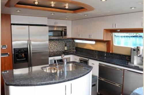 84' Lazzara Yacht Galley