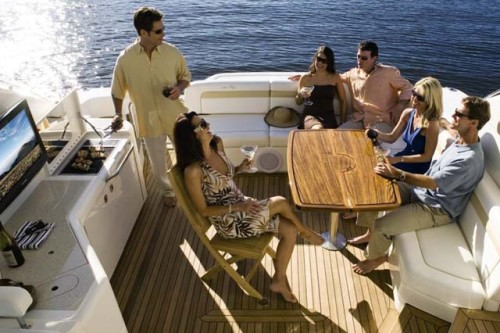 54' Sea Ray Yacht Aft Deck