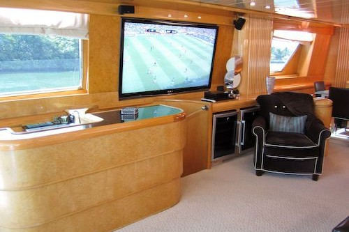 95' Elegance Yacht TV Area Saloon