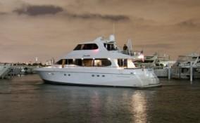 76 Lazzara Yacht Night View