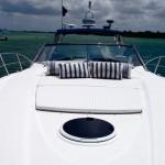 50' Sunseeker Yacht Bow