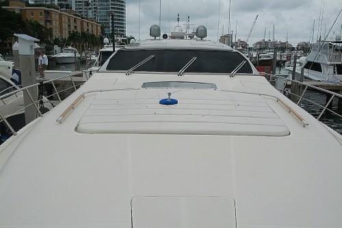 72' Riva Yacht Bow Miami Beach Marina