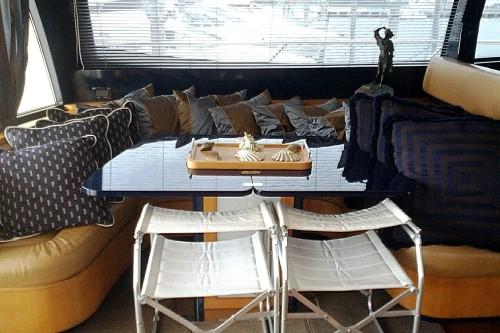 72' Riva Yacht Dinning Area