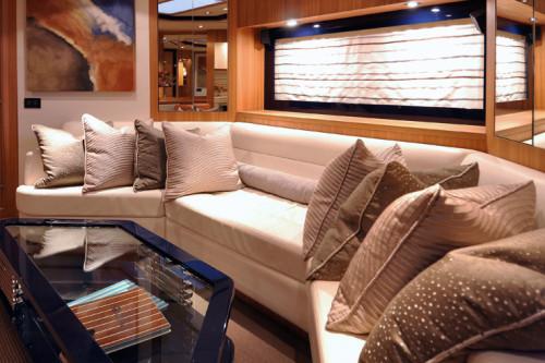 72' Riva Yacht Saloon Area