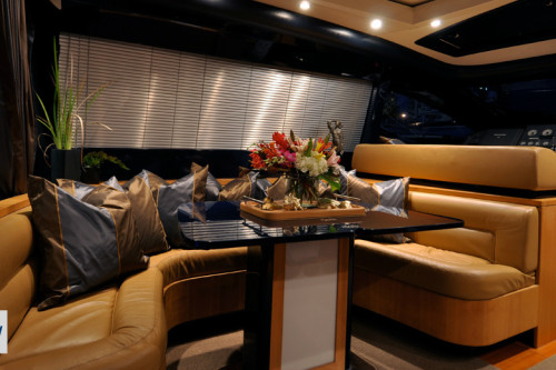 72' Riva Yacht Interior Dinning