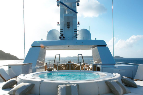 147' Feadship Yacht Hot Tub View