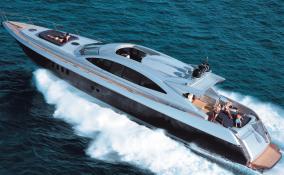 87' Warren Yacht Full Speed in Atlantic Ocean