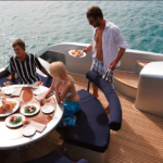 87' Warren Yacht Aft Deck Dining Area